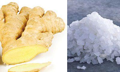 Giảm mỡ bụng hiệu quả bằng muối và gừng