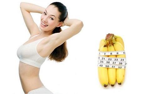 giảm béo bụng với chuối